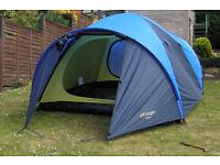 Vango 4 man tent - Tahoe 400. Interior footprint is 2.00mx2.30m Excellent cond.