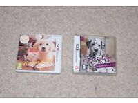 Nintendo DS Nintendog + cats game bundle