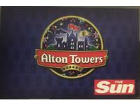 Tickets to Alton Towers - 3 July 2018