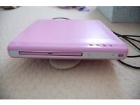 Pink DVD player