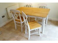 Kitchen or Dining Room Table and Four Chairs