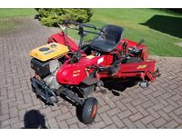 Saxon Triple Mower - the three cylinders give a 74 inch wide cut