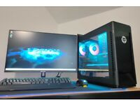 Lenovo Legion T5i High Spec Gaming Computer PC With 27 inch 144hz monitor