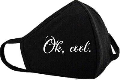 Mundschutz mit Motiv, Ok, cool, Geschenk, Frech, Maske, Weihnachten, Lustig
