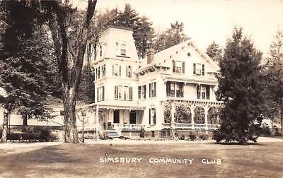 Simsbury  Ct   Community Club   Real Photo Post Card   C  1920S 1940S