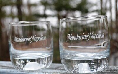 NEW PAIR OF FRENCH MANDARINE NAPOLEAN LOW BALL GLASSES