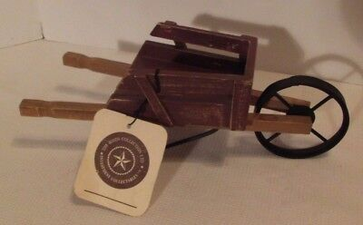 Boyd's Bears Collectible Furniture Doll Sized Wooden Garden Wheelbarrow