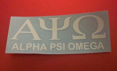 """Alpha Psi Omega Decal Sticker For Car Computer Or Any Flat Surface 2""""H X 5.5 W"""