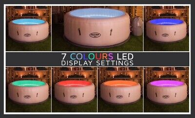Lay Z Spa Paris JUNE 17th Pre Order. LED Lights. Upto 5 Person Inflatable Hottub