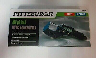 New In Box Pittsburgh Digital Micrometer Sae And Metric Model 63647
