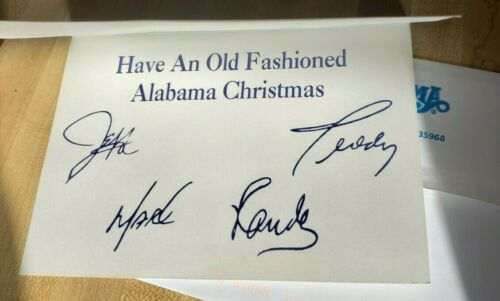 Alabama Band Signed Christmas Card Might Be Printed Autographs?