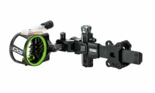 CBE CX-5 Carbon Dovetail Archery/Hunting Sight 5 Pin.019 w/Light-Right/Left Hand