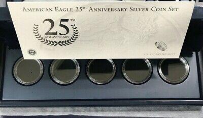2011 American Eagle 25th Anniversary Silver Coin Set Box OGP & COA No Coins Coin Box Coa No Coins