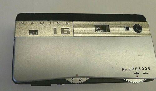 Mamiya-16 De Luxe Gold/Silver Sekor 2.8/25 Subminiature Film Camera - Japan