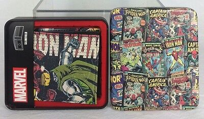 Marvel Comics Iron Man Wallet Slimfold Bifold Collector Tin NWT Faux Leather