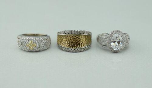 Lot of 3 Sterling Silver Joseph Esposito ESPO Rings Bands