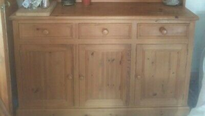 kitchen solid wooden cabinet with 3 drawers.