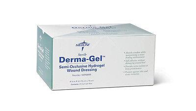 "Derma-Gel Hydrogel Wound Dressing Sheets 4"" x 4"", Medline # NON8000 - One Sheet"