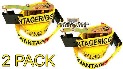 2 Pack - Transport Ratchet Strap - Flat J Hook 27 Foot 2 Hauling Trailer Load