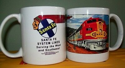 SANTA FE RAILROAD COFFEE MUG - // Super Chief // Collectible Cup // Train Art