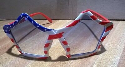 Sunglasses Classic 70s Vintage Style Design (Flag Theme Stars and Stripes) New