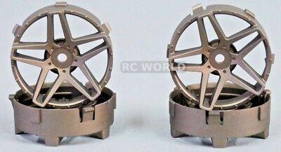 Tetsujin SOUTHERN CROSS RC Car Wheels BRONZE Adjustable Offset 3-6-9mm -4 RIMS