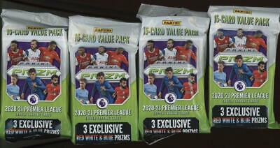 2020 Panini Prizm Premier League Soccer Hanger Pack Lot of 4