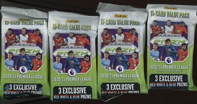 2020 Panini Prizm Premier League Soccer Hanger Pack Lot of 4