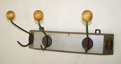 Long Wardrobe, Coat Hook Wall Rail Wood Deco Iconic Retro