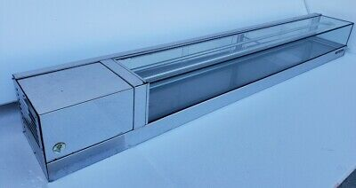 Used Yoshimasa Sushi Display Case Garasu-6l 72 L Wide Flat Top Self-contained