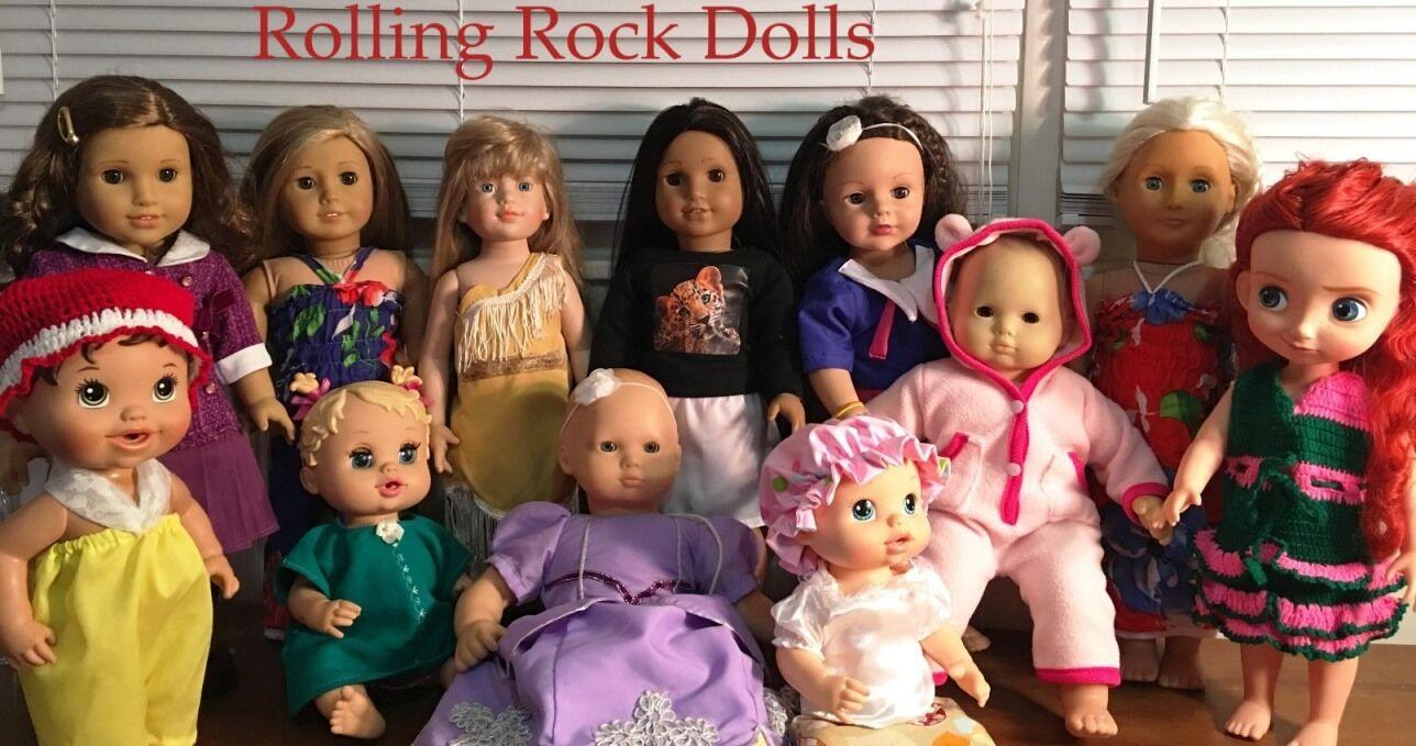 Rolling Rock Dolls