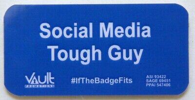 'SOCIAL MEDIA TOUGH GUY' MAGNETIC BADGE PIN