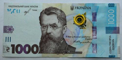 2019 Ukraine 1000 Hryven. UNC. 1PCS. European banknotes. Paper Money