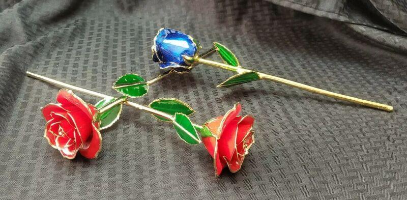 24kt Gold Lacquered Rose Single Stem