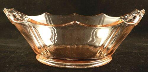 "Vintage Serving Bowl Cambridge Decagon Pink Depression Glass Open Handled 8 1/2"""