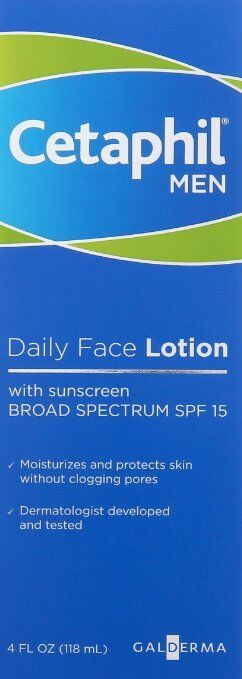 Cetaphil Men Daily Face Lotion with SPF 15, 4 Ounce