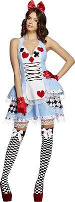 Alice im Wunderland Kostüm 2-teilig Märchen Kleid Damen Gr M # ()