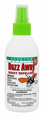 Quantum Buzz Away - Natural DEET-free Insect Repellent. 6 fl.oz (180ml) Buzz Away Insect Repellant