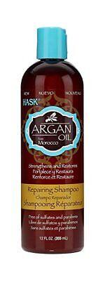 Hask Argan Oil Reparing Shampoo - 12 oz Strengthens and Repairs Free of Sulfates