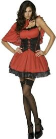 LITTLE RED RIDING HOOD OR PIRATE DRESS ONLY THE CAPE IS MISSING SIZE 12/14 PARTY OR HEN DO