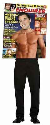 National Enquirer Magazine Cover Hot Guy Adult Costume Funny Outfit Halloween - Hot Halloween Guys