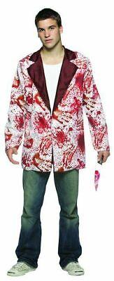 Blazer Halloween Costume White Jacket With Blood Splattered (Rasta Halloween-kostüm)