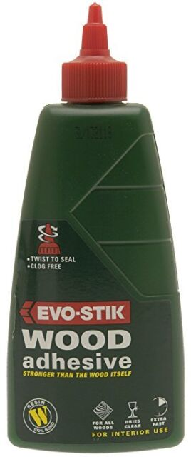 Evo-Stik Resin W Wood Adhesive Glue Interior Extra Fast Dries Clear