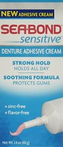 Sea-Bond Sensitive Denture Adhesive Cream, 1.4 Ounce