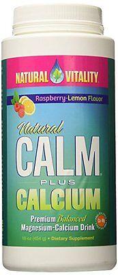 Natural Vitality Natural Calm Plus Calcium  Raspberry Lemon Flavor 16 Oz