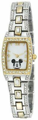 Disney Mickey Mouse Women's MK2043 Mother-of-Pearl Dial Two-Tone Bracelet Watch