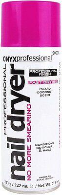 Onyx Professional Coconut Scented Spray On Nail Polish Dryer 7.5oz | Dry Fast