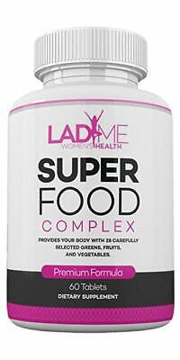 SuperFood Fruits & Veggies Complex - Green Detox Super food - 60 Tabs by LadyMe