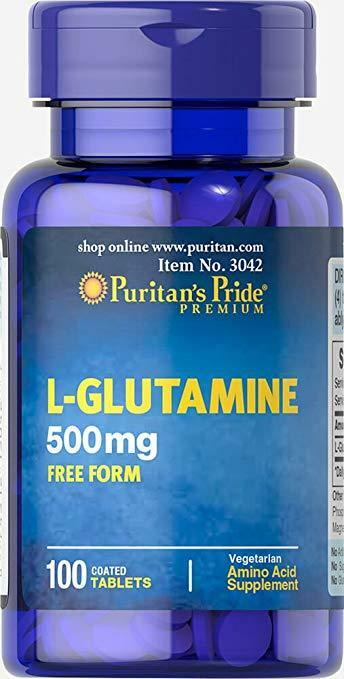 Puritan's Pride L-GLUTAMINE 500mg MUSCLE BUILDER HIGH QUALIT