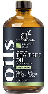 100% Pure Tea Tree Essential Oil 4 Fl Oz Bottle Natural Premium Therapeutic